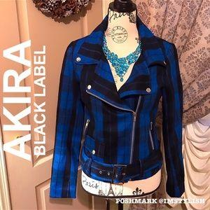 AKIRA Jackets & Coats - 🆕 SALE! AKIRA Black Label Checkmate Moto Jacket